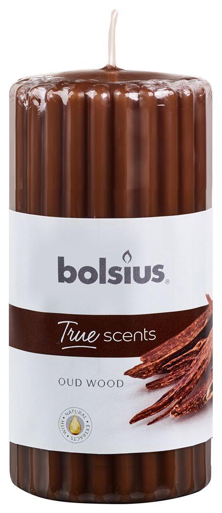 bolsius stompkaars geur true scents oud wood