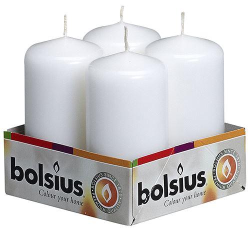 bolsius stompkaars wit (4sts)