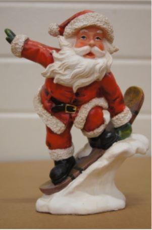bp kerstman op snowboard a