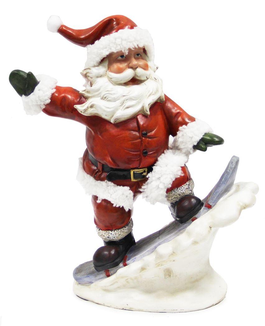 bp kerstman op snowboard b