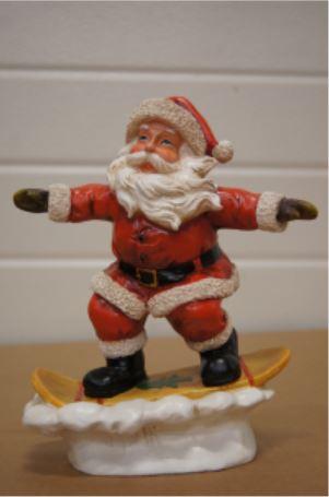 bp kerstman op snowboard e
