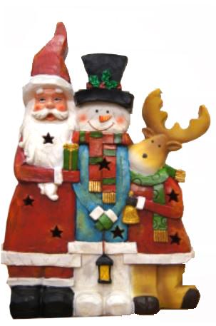 bp kerstman sneeuwman rendier