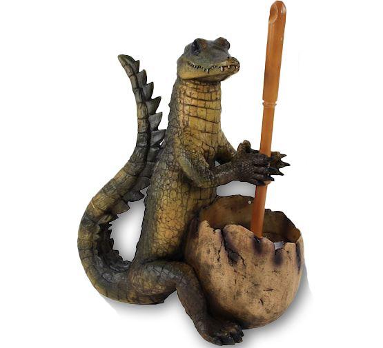 bp krokodil met wc borstel