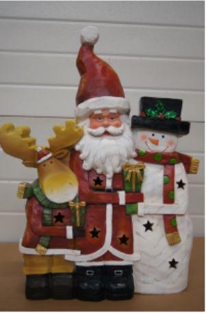 bp rendier kerstman sneeuwman