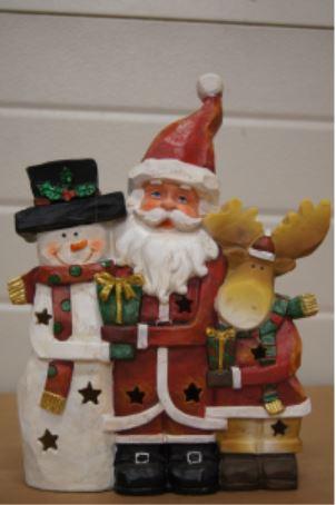 bp sneeuwman kerstman rendier