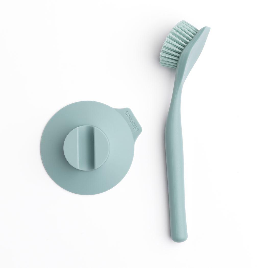 brabantia afwasborstel met zuignaphouder mint