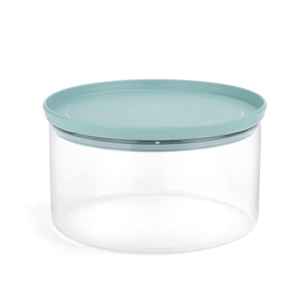 brabantia stapelbare glazen voorraadtrommel mint