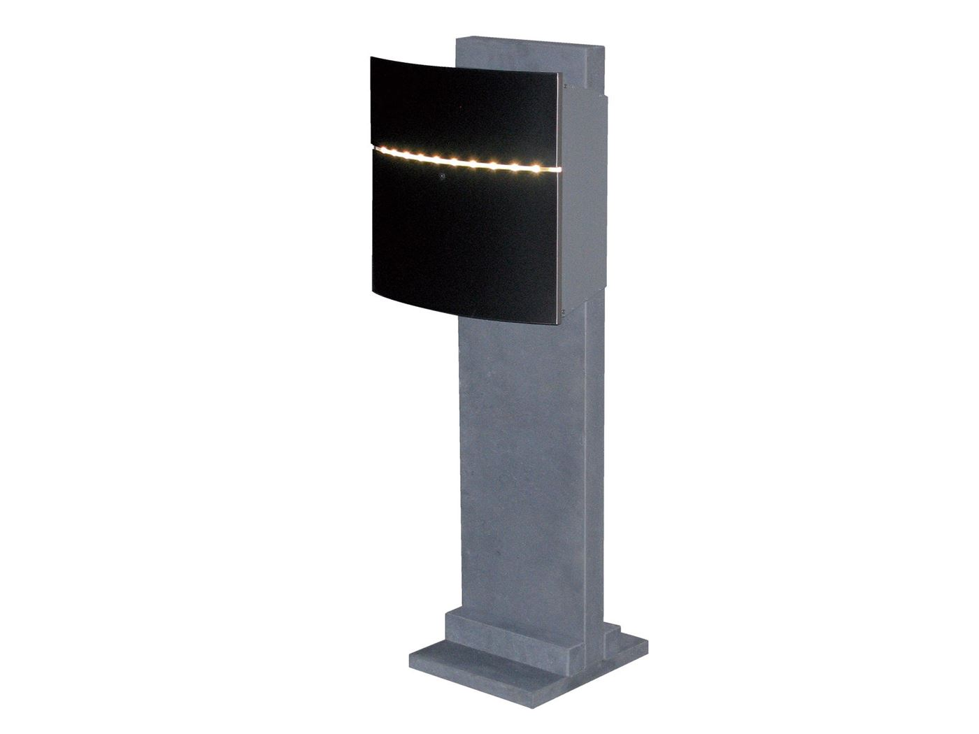 brievenbus halmstad stainless steel led