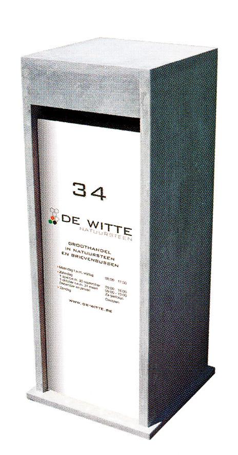 brievenbus model 59 chinese blauwsteen gepersonaliseerd (exclusief opdruk)