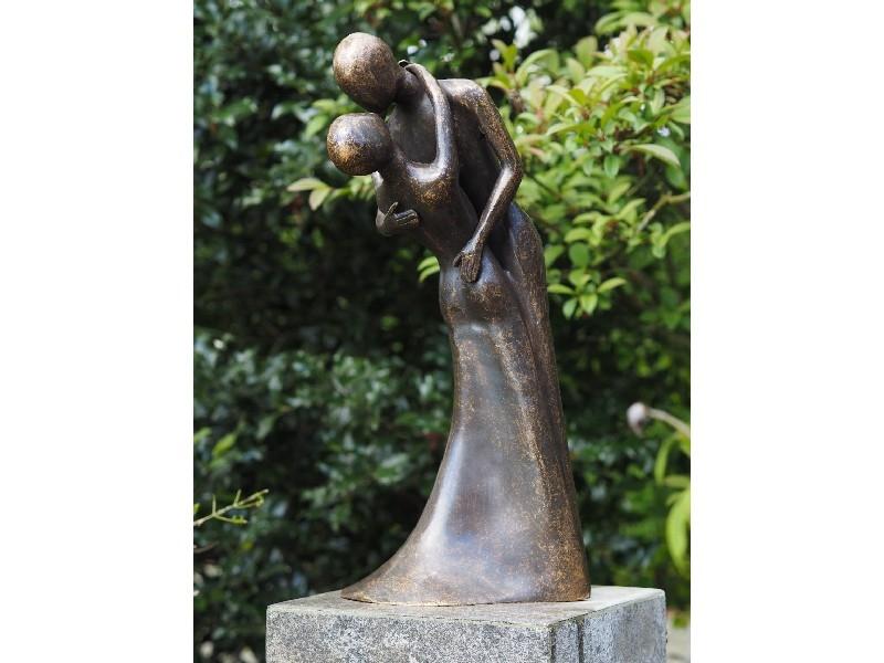 bronzen beeld - dansend paar