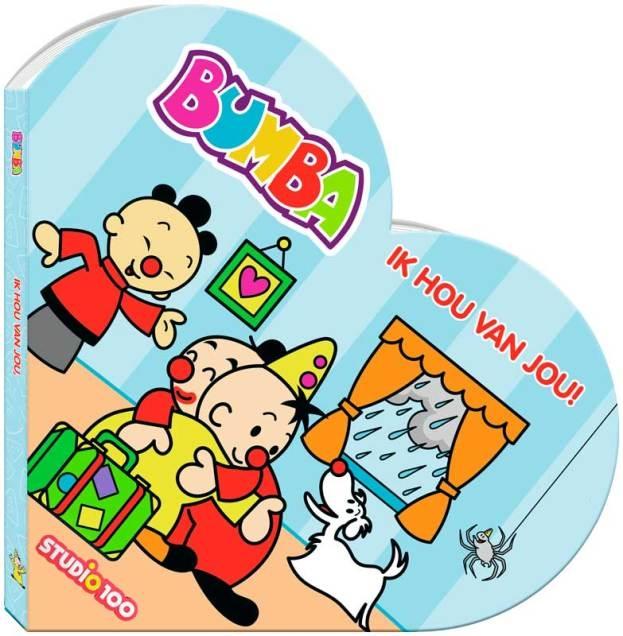 bumba kartonboekje in hartvorm ik hou van je!
