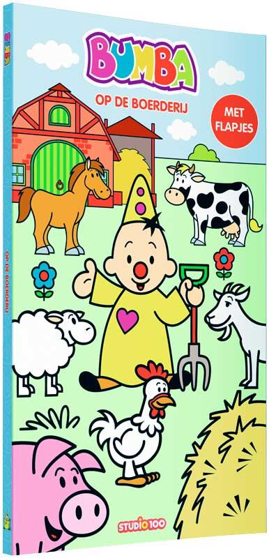 bumba kartonboekje met flapjes  op de boerderij