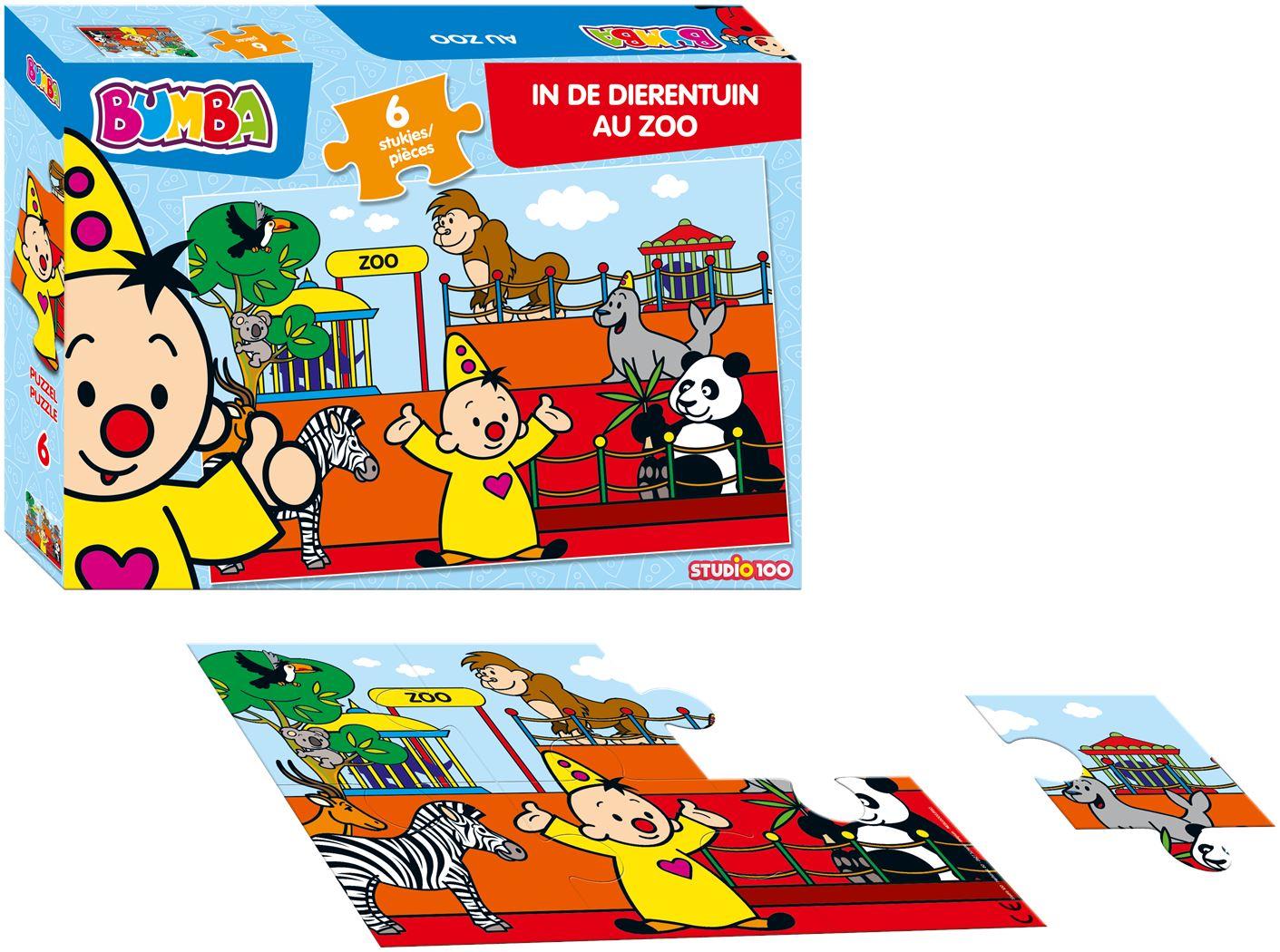 bumba puzzel dieren: in de dierentuin (6 stukjes)