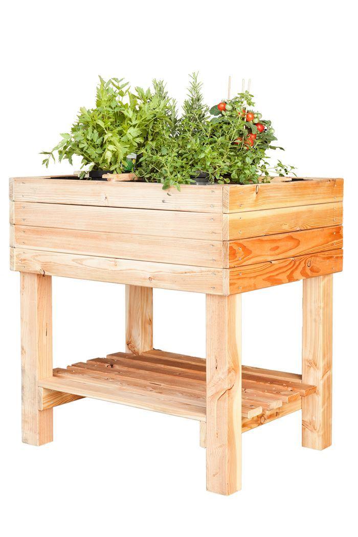 moestuin tafelmodel lariks horti incl.geotextiel