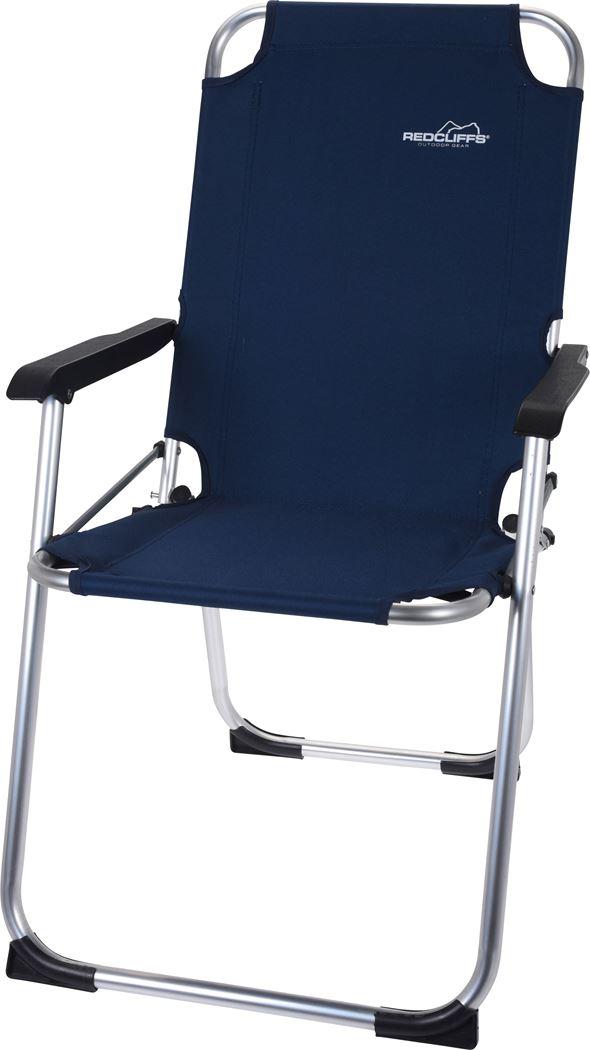 campingstoel alu donkerblauw