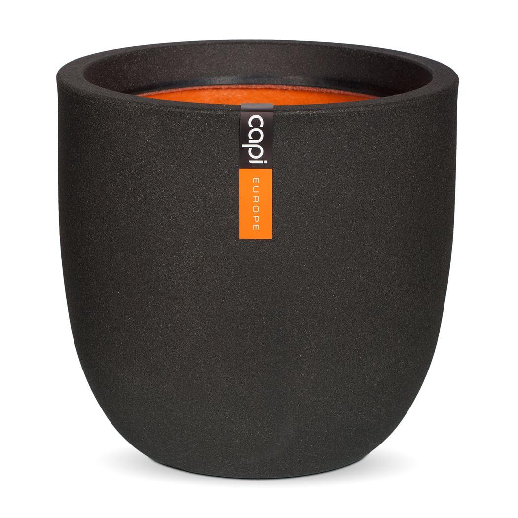 capi pot bol smooth zwart