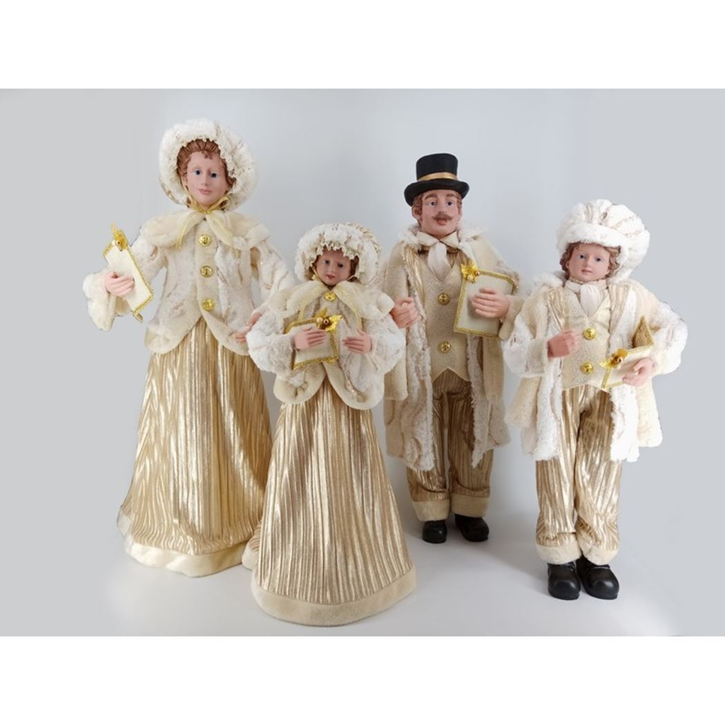 caroller set gold (4-delig)
