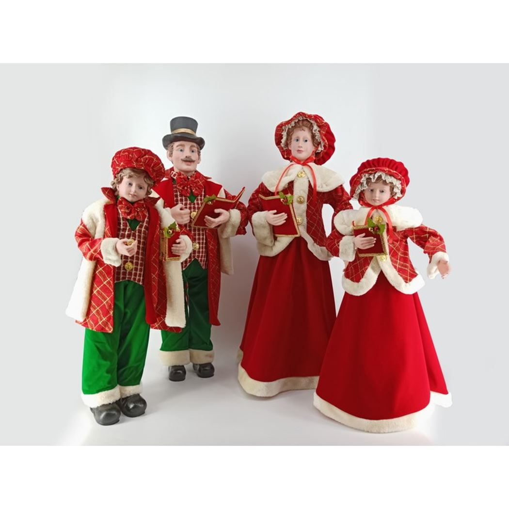 caroller set red (4-delig)