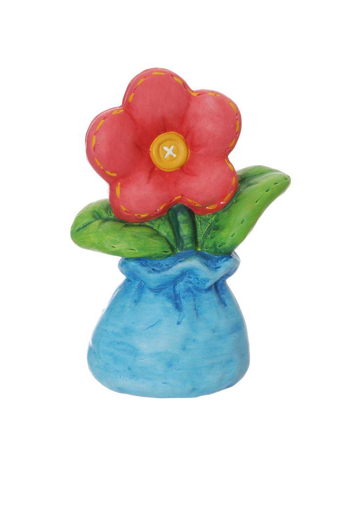 ceramic flower pink blue