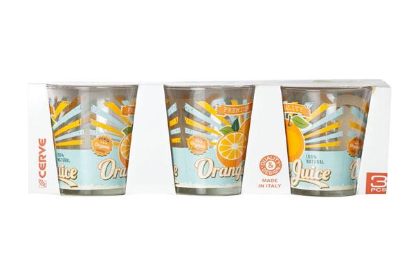 cerve glas nadia bio vintage orange (3sts)