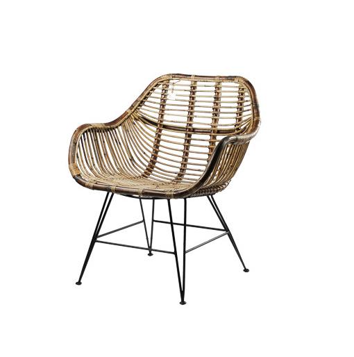 chair rattan iron legs