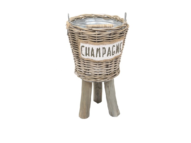champagne cooler natural jute