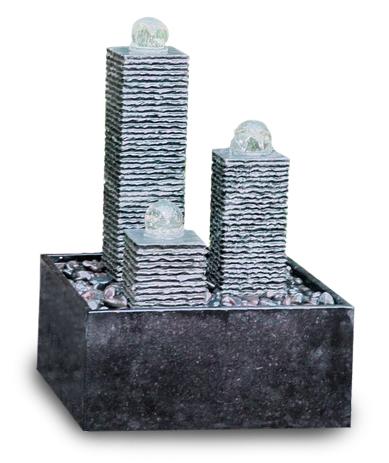 chrystal fountain sophia polish basin graniet zwart