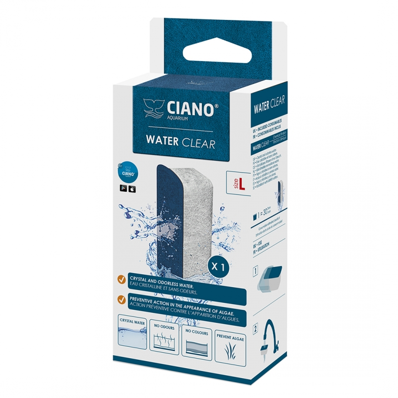 ciano water clear large blauw