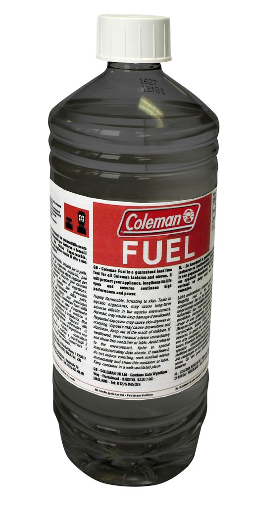coleman liquid fuel 1l black bottle white cap