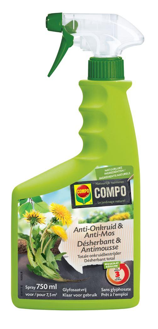 compo anti-onkruid & anti-mos totaal spray