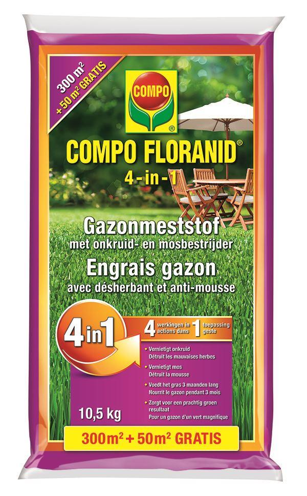 compo floranid gazonmeststof 4 in 1