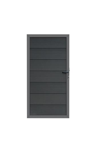 composiet deur grijs met vast frame en grijskleurige planken