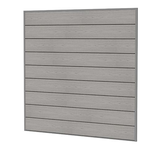 composiet scherm houtmotief grijs