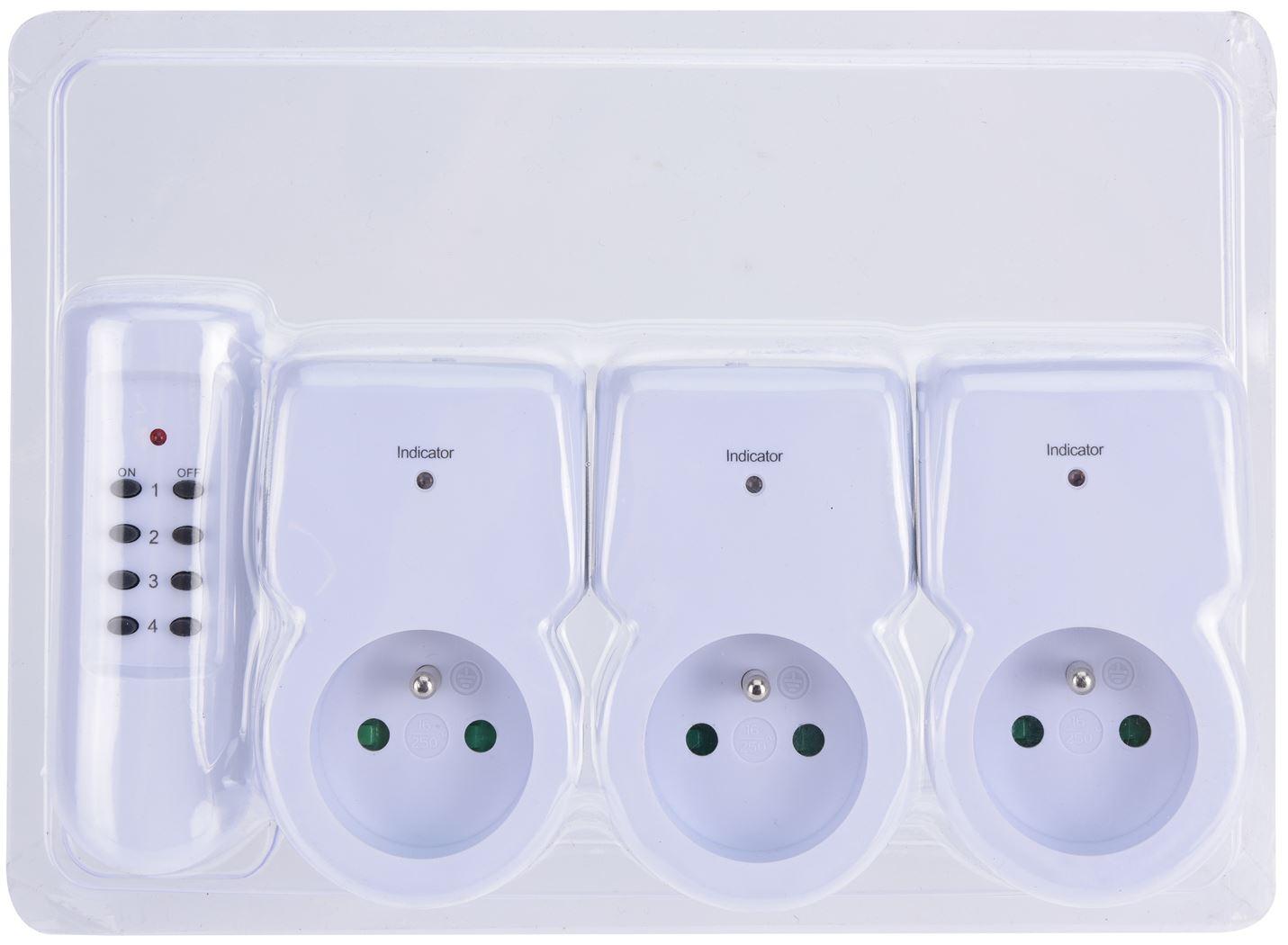 contactdozen set met afstandsbediening (3sts)