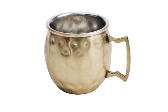 cosy & trendy moscow mug drinkbeker goud gehamerd (4sts)