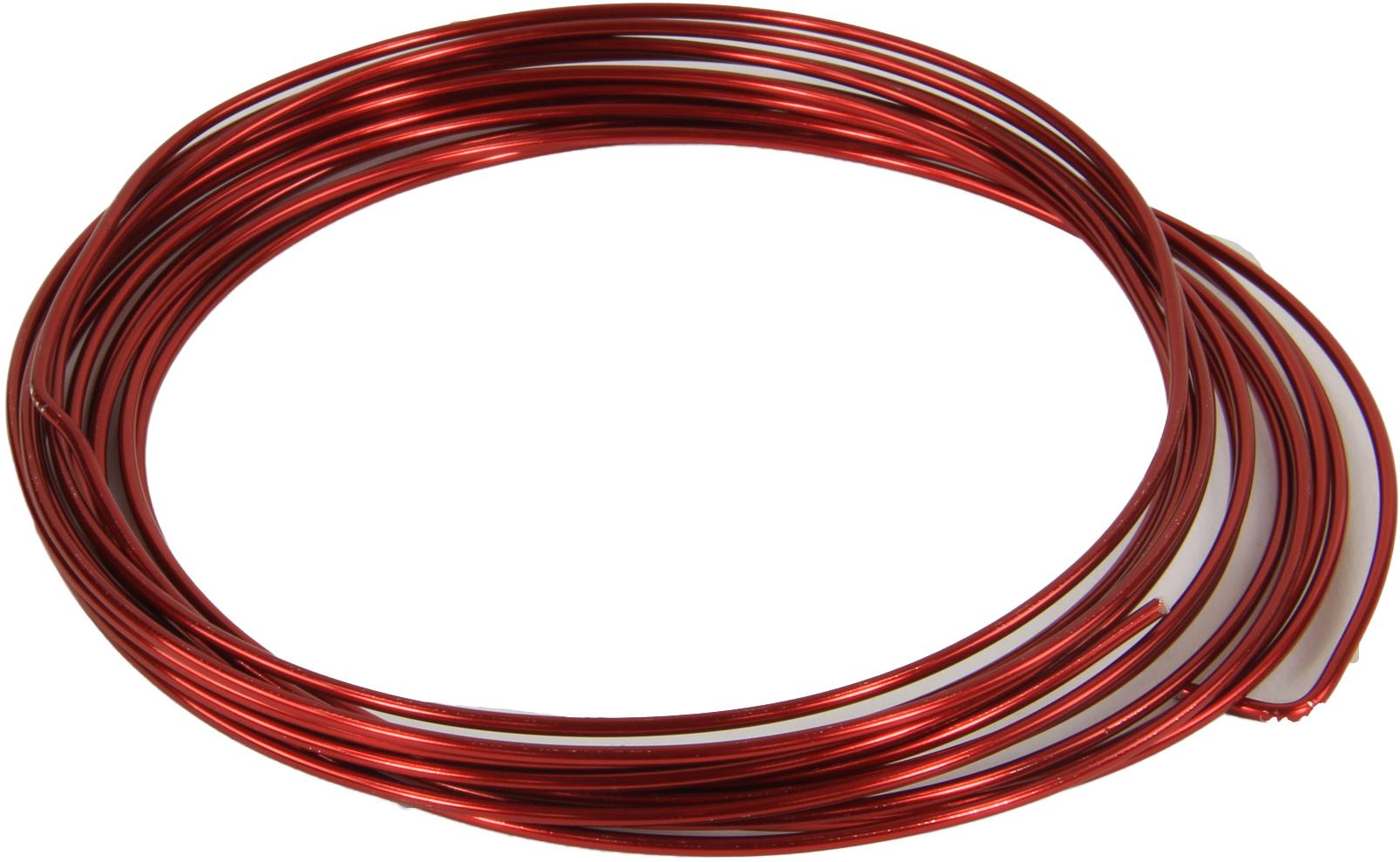cp aluminiumdraad 2mm rood