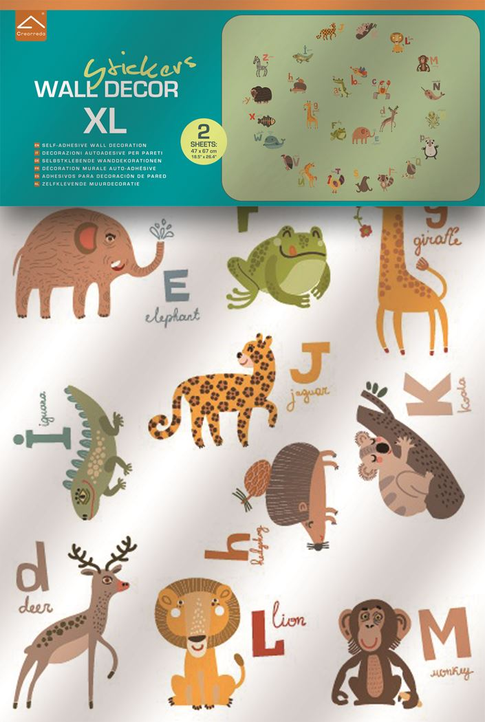 crearreda alphabet wall sticker 2 sheets