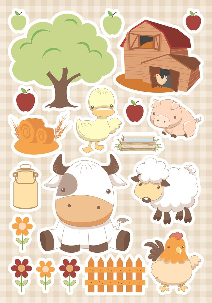 crearreda baby farm wall sticker