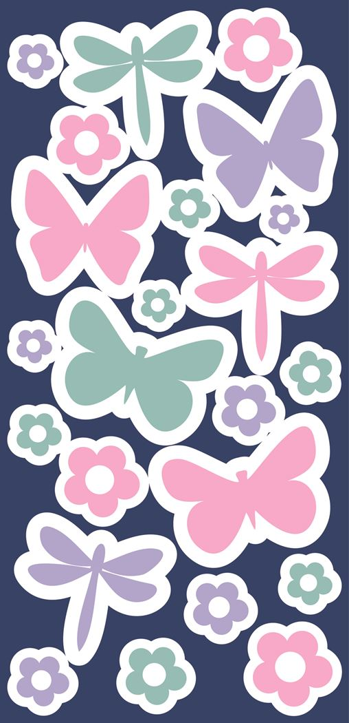 crearreda butterflies glow in the dark wall stickers 2 sheets