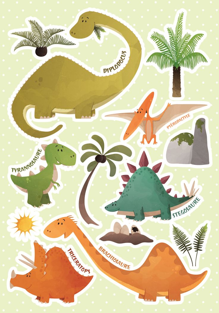 crearreda dinosaurs wall sticker