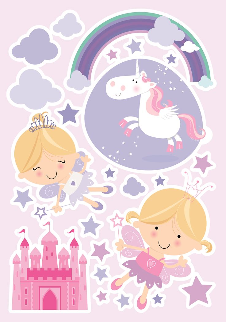 crearreda happy fairies wall sticker