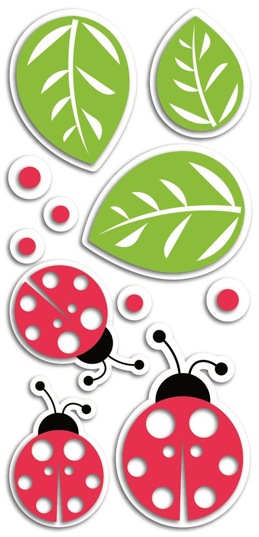 crearreda ladybugs 3d foam wall decor