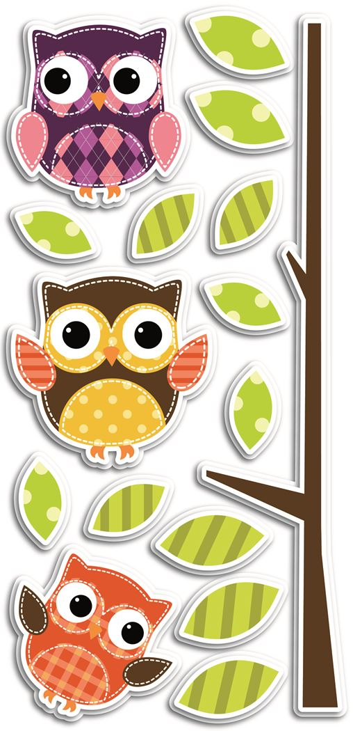 crearreda owls 3d foam wall decor