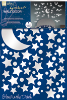crearreda starry night wall sticker glow in the dark