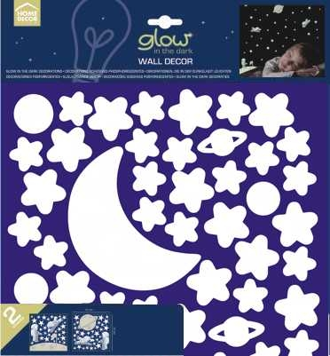 crearreda white stars glow in the dark wall stickers 2 sheets