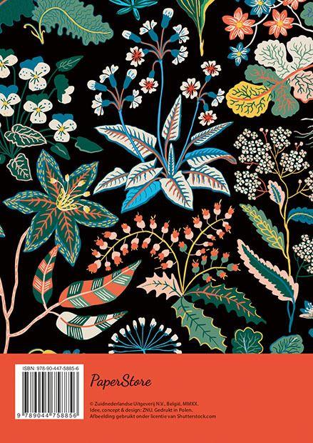 dagplanner - floral black