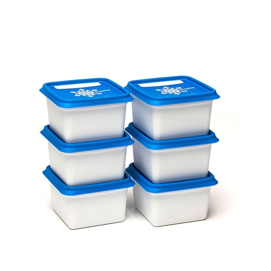 dbp plastics diepvriesdozen vierkant (6sts)