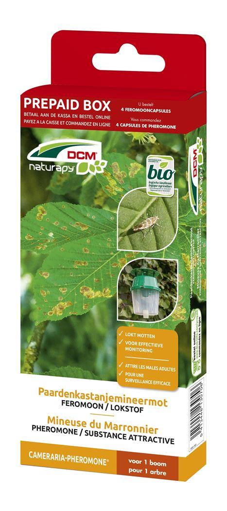 dcm naturapy® cameraria-pheromone - feromooncapsules tegen paardenkastanjemineermot (4 capsules) (prepaid box)