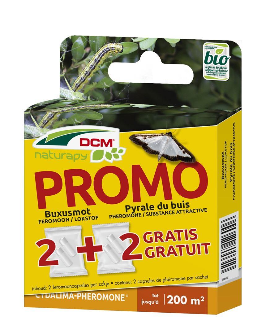 dcm naturapy® cydalima-pheromone - feromooncapsules tegen buxusmot (2+2 capsules) (prepaid box)