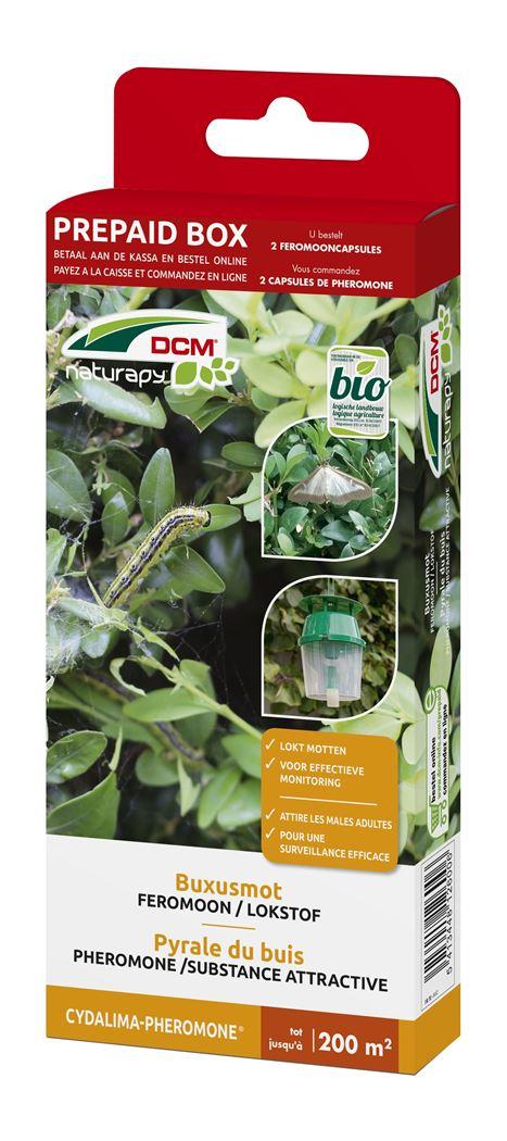dcm naturapy® cydalima-pheromone - feromooncapsules tegen buxusmot (2 capsules) (prepaid box)